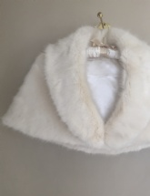 Sophia Faux Fur Longhaired Shrug